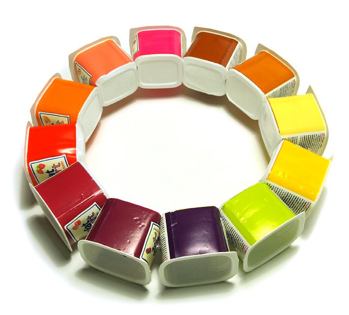 113 Yogurt Colour Wheel Everyday Objects